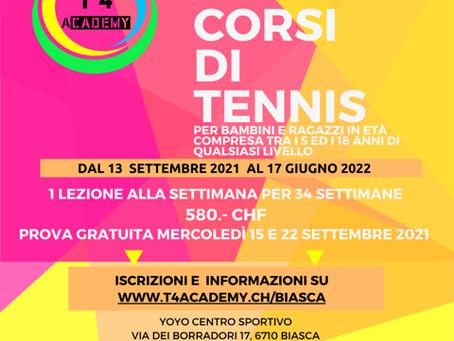 Scuola tennis 2021/2022