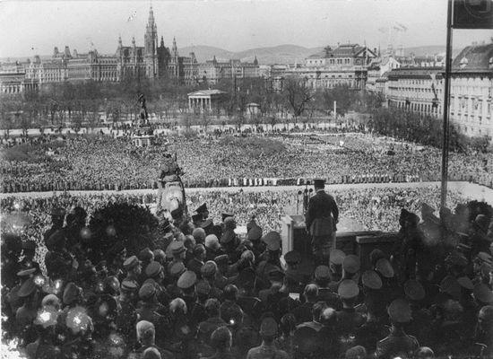 hitlerannouncestheanschlussintheheldenplatzvienna15march1938