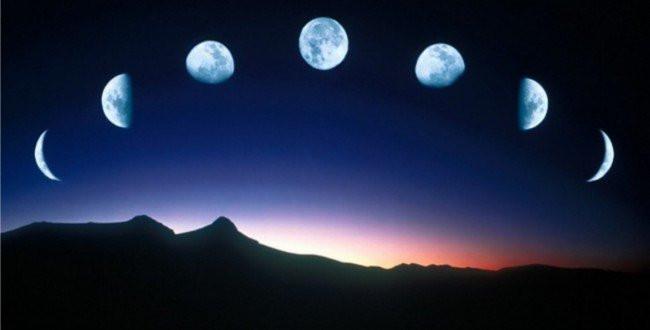 Distintas fases lunares