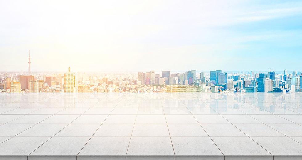 Business concept - Empty concrete floor