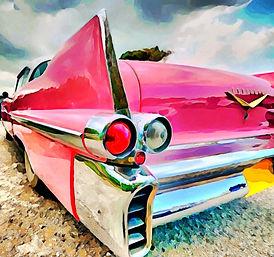 """Pink Caddy"" 7""x7"" $150"
