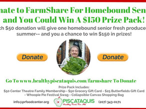 Donate to FarmShare For Homebound Seniors and Be Entered To Win a $150 Prize Pack!!