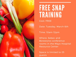FREE SNAP Training in Piscataquis