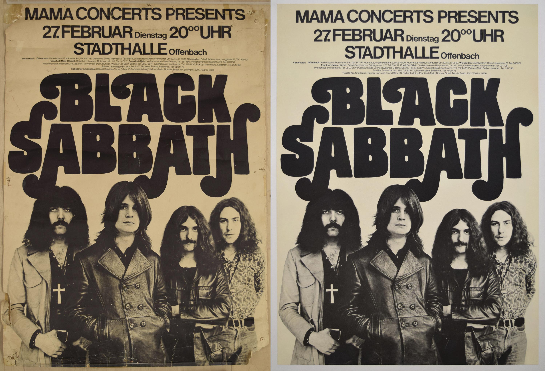 Black Sabbath Concert Poster, 1973
