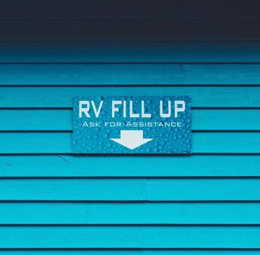 Exterior RV Fill Up Station