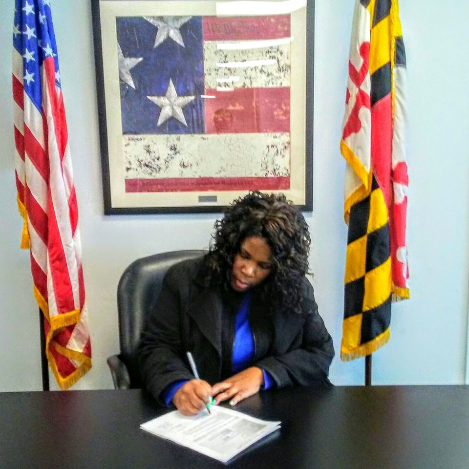 Signing my name to be on the ballot!