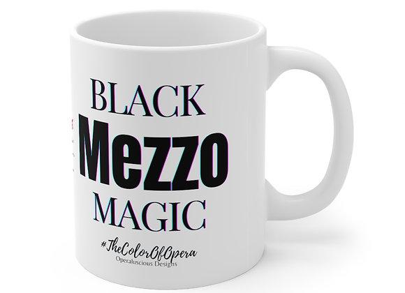 Black Mezzo Magic  Mug 11oz