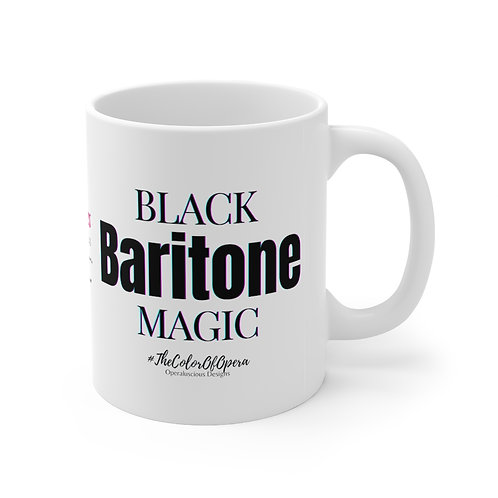 Black Baritone Magic Mug 11oz