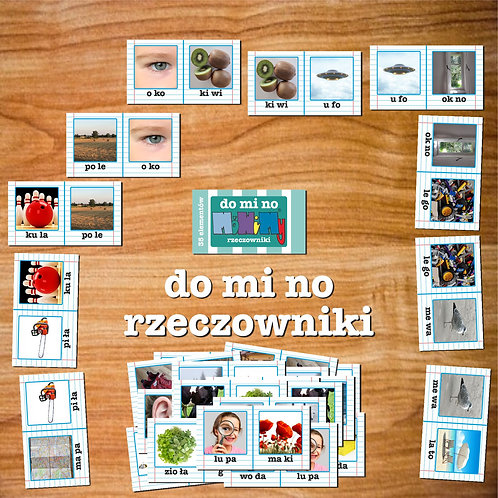 Karty domino rzeczowniki
