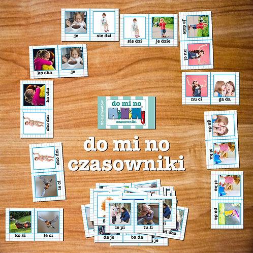 Karty domino czasowniki