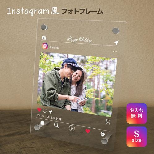 【名入れ無料】 フォトフレーム インスタ風 写真立て フォトスタンド SNS アクリル ギフト プレゼント 結婚 インテリア Instagram風 UV カラー