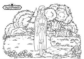 Talespinner elf ranger colouring-in kids activity download