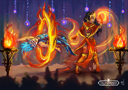 Fiery performance