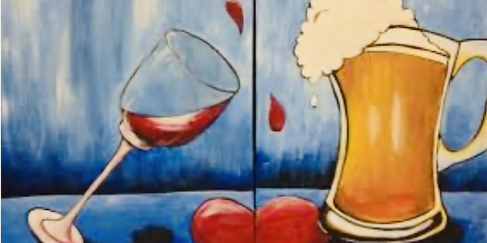 """""""Cheers to the Freakin' Weekend!! (Couples or Individual Painting)"""