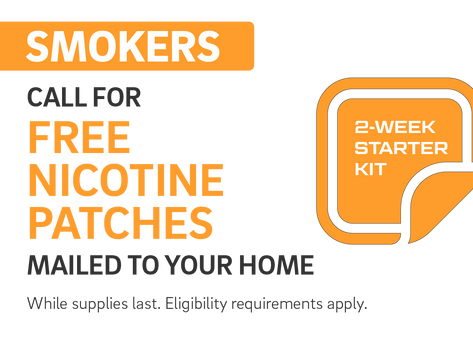 Free Nicotine Patches Available to California Smokers