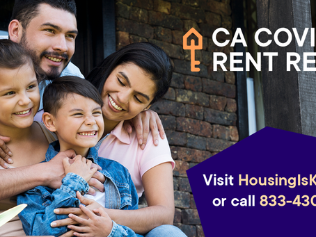 CA COVID‐19 Rent Relief Available