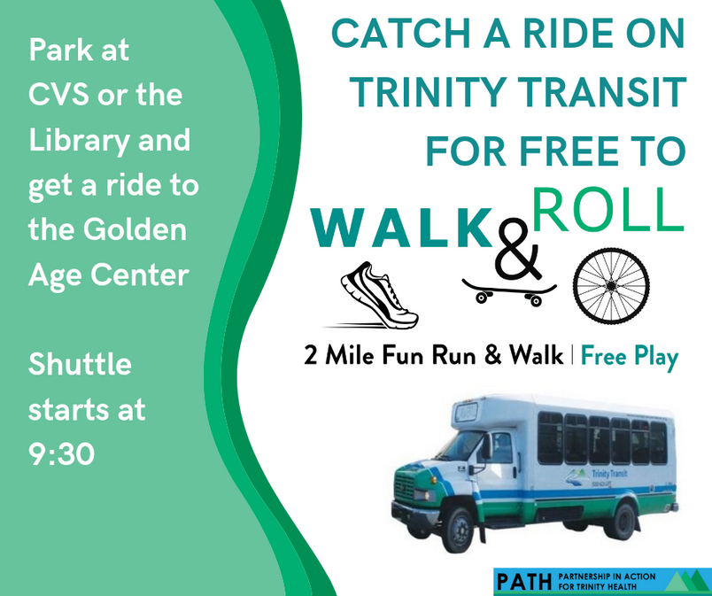 Take Trinity Transit to Walk and Roll.pn