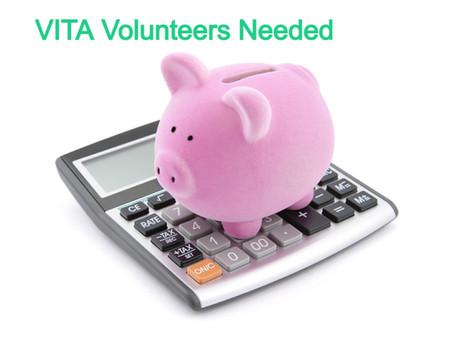 Volunteers Needed for VITA Tax Preparation Program