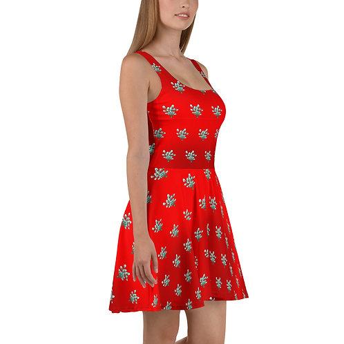 Leafy Pattern Flare dress
