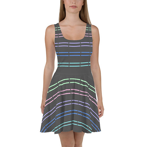 Broken Stripes Flare Dress