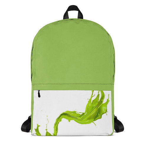 Green Paint Backpack