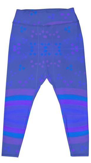 colouring fun in blue plus size leggings
