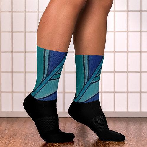 Blue Leaf Socks
