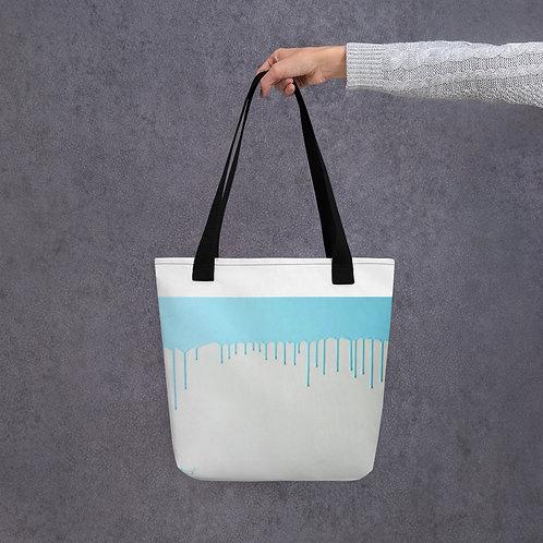 Teal Paint Tote bag
