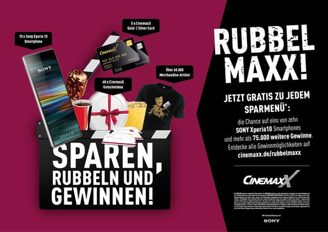 """Anzeigenmotiv """"Rubbel Maxx!"""""""