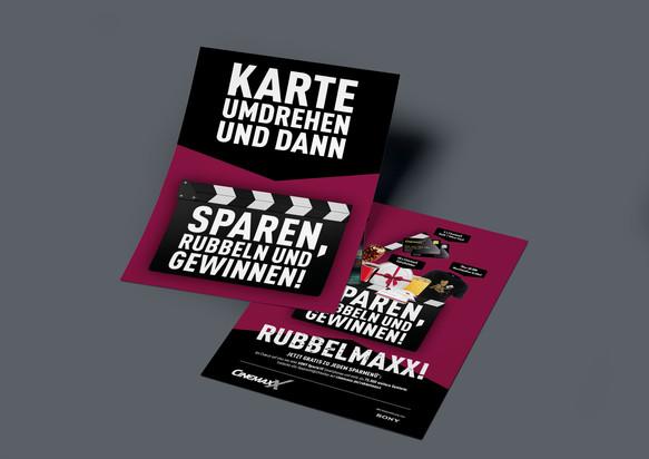 """Gewinnspielkarten """"Rubbel Maxx!"""""""