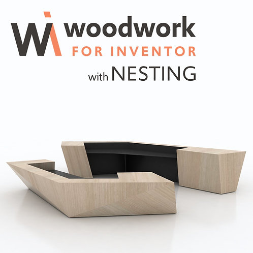 Woodwork for Inventor with Nesting – trajna licenca