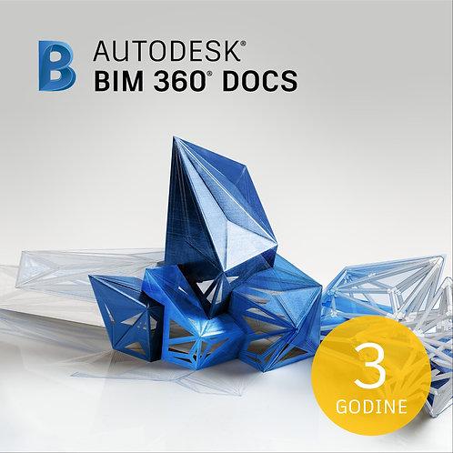BIM 360 Docs Single User CLOUD Commercial New 3-Year Subscription