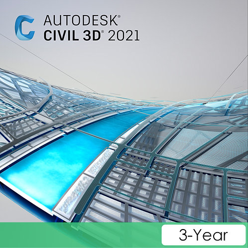 Civil 3D 2021 Commercial New Single-user ELD 3-Year Subscription
