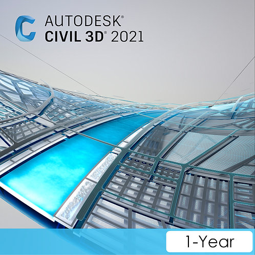 Civil 3D 2021 Commercial New Single-user ELD Annual Subscription