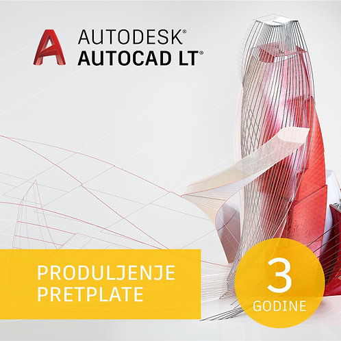 AutoCAD LT Commercial Single-user 3-Year Subscription Renewal