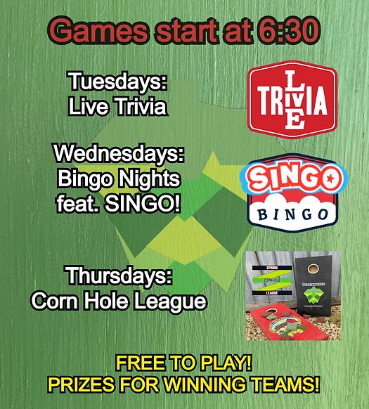Summer Website Trivia and bingo Template