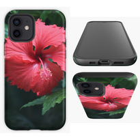 Deep Red Hibiscus Smart Phone Case.png