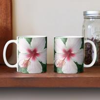 Pinkish White Hibiscus Mug.jpg