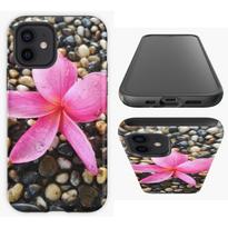 Pink Frangipani on a Pebble Path Smart Phone Case.png