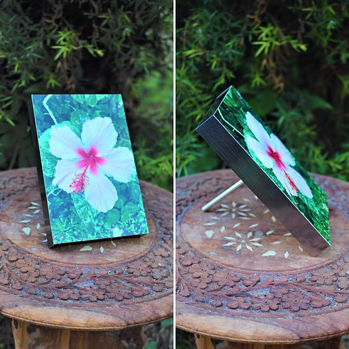 Photo Block (Pink Hibiscus)