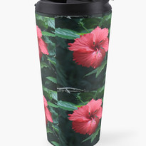Deep Red Hibiscus Travel Mug.jpg
