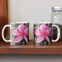 Pink Frangipani on a Pebble Path Mug.jpg