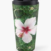 Pinkish White Hibiscus Travel Mug.jpg
