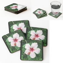 Pinkish White Hibiscus Coasters.png