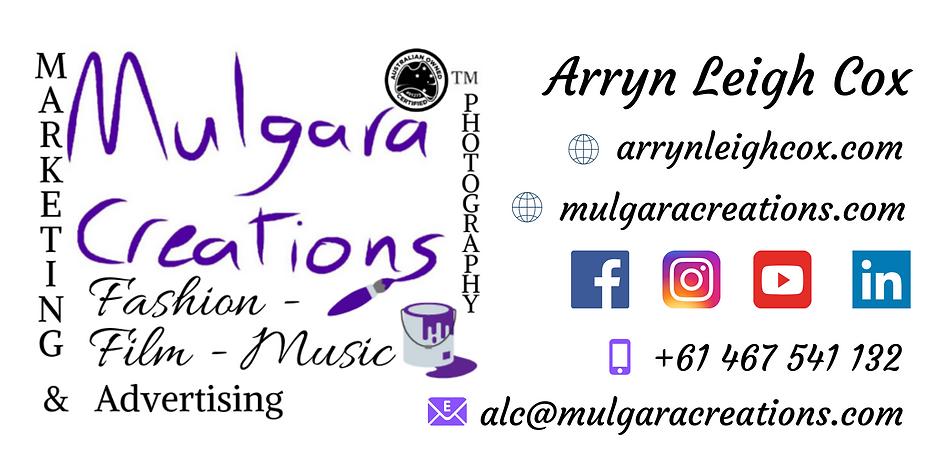 Mulgara Creations / Arryn Leigh Cox Contact Details