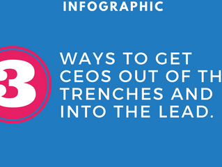 [INFOGRAPHIC] 3 ways to get CEOS out of the trenches and into the lead.