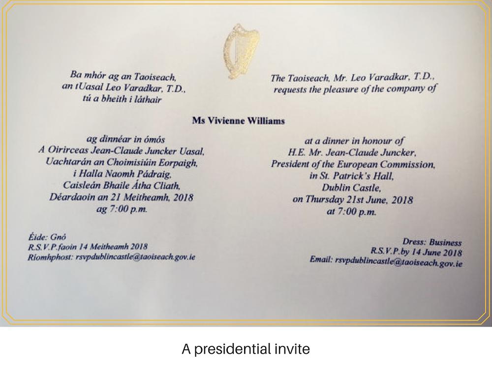 A presidential invite. Vivienne Williams CEO. WeareCellix