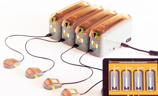 4 ExiGo pumps plugged together