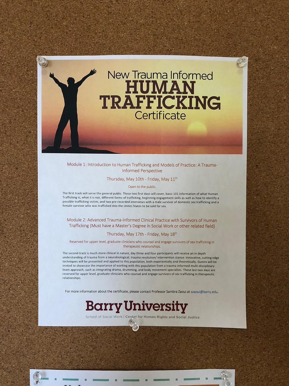Human Trafficking Certificate Program