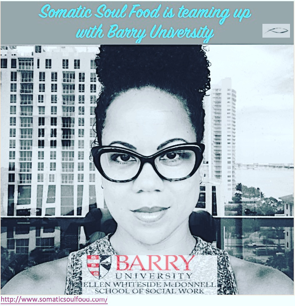 Excited to Move with Purpose with the School of Social Work at Barry University. Thank you Professor Sambra Zaoui for inviting me to the Integrative Experimental Therapy Event. Let's go grads!